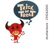trick or tread. vector... | Shutterstock .eps vector #154262042