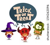 trick or tread. vector... | Shutterstock .eps vector #154262096