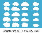 set of cloud icons vector... | Shutterstock .eps vector #1542627758
