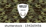 military camouflage background | Shutterstock .eps vector #154265456