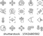 biometric line icon set.... | Shutterstock .eps vector #1542680582