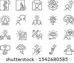 idea line icon set. included... | Shutterstock .eps vector #1542680585