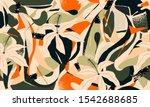 modern exotic jungle plants... | Shutterstock .eps vector #1542688685