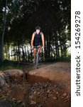 cycling in forest | Shutterstock . vector #154269278