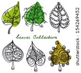 leaves collection  vector... | Shutterstock .eps vector #154269452