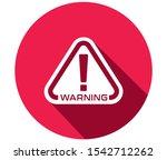 warning  warning sign icon ... | Shutterstock .eps vector #1542712262