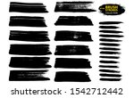 black ink vector brush strokes. ... | Shutterstock .eps vector #1542712442