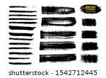 black ink vector brush strokes. ... | Shutterstock .eps vector #1542712445