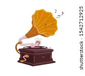old gramophone isolated on a...   Shutterstock .eps vector #1542712925