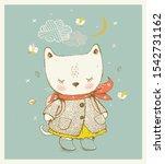 Cute Kitty Dressed In A Coat...