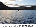 A sticker of nessie  the loch...
