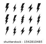 set lightning bolt. thunderbolt ... | Shutterstock .eps vector #1542810485