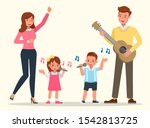 happy family people mother ... | Shutterstock .eps vector #1542813725