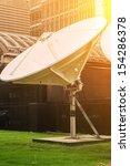 satellite dish antennas | Shutterstock . vector #154286378