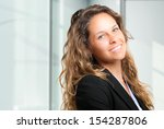 beautiful businesswoman in her... | Shutterstock . vector #154287806