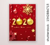 happy new year 2020. background ... | Shutterstock .eps vector #1542886715