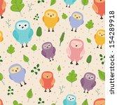cute vector seamless pattern... | Shutterstock .eps vector #154289918