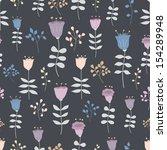 fantasy floral seamless vector... | Shutterstock .eps vector #154289948