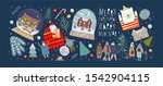 winter holidays merry christmas ... | Shutterstock .eps vector #1542904115