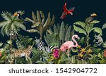 seamless pattern with jungle... | Shutterstock .eps vector #1542904772