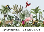 Seamless Pattern With Jungle...