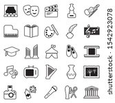 culture icons. line with fill... | Shutterstock .eps vector #1542923078