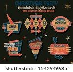 mid century modern american... | Shutterstock .eps vector #1542949685
