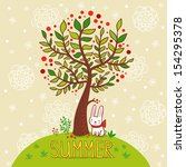 seasonal background with tree...   Shutterstock .eps vector #154295378