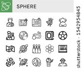 sphere simple icons set.... | Shutterstock .eps vector #1542954845