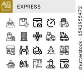 express icon set. collection of ... | Shutterstock .eps vector #1542955472