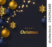 christmas greeting card with... | Shutterstock .eps vector #1542961688