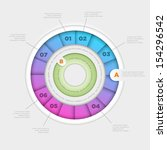 vector wheel infographic design ... | Shutterstock .eps vector #154296542