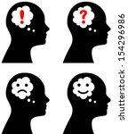 vector illustration of head... | Shutterstock .eps vector #154296986