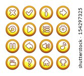 yellow and orange round buttons
