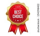 red best choice badge with... | Shutterstock .eps vector #154298402