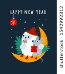 happy new year 2020 wish and... | Shutterstock .eps vector #1542992312