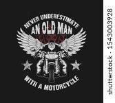 never underestimate an old man... | Shutterstock .eps vector #1543003928