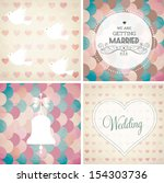 vector illustration. wedding... | Shutterstock .eps vector #154303736
