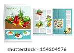 brochure design. health food... | Shutterstock .eps vector #154304576