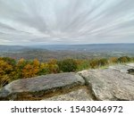 View of the Shenandoah Valley and Blue Ridge Mountains at Shenandoah National Park, Virginia, USA