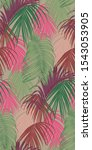 trendy seamless luxury tropical ... | Shutterstock .eps vector #1543053905