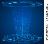 digital futuristic technology...   Shutterstock .eps vector #1543056812