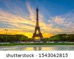 Paris Eiffel Tower And Champ D...