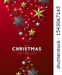 red christmas background with... | Shutterstock .eps vector #1543067165