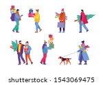 set of happy cartoon people... | Shutterstock .eps vector #1543069475