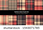 Tartan Plaid Pattern Set....