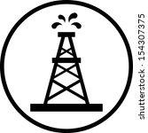 oil rig vector icon  | Shutterstock .eps vector #154307375