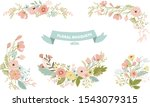 vector isolated floral bouquet... | Shutterstock .eps vector #1543079315