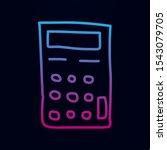 calculator sketch nolan icon....