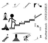 stair  success  target  up icon....